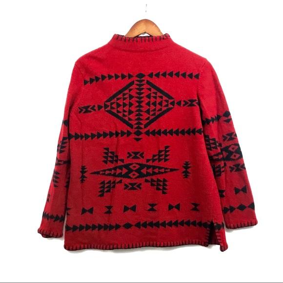 fc03593b2d64 ... Indian Aztec Sweater lambs wool. M 5c364460194dad500231e7bd